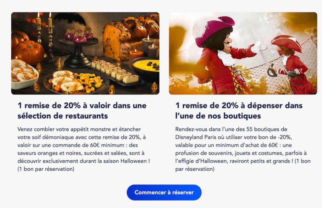 Rendez-vous magique halloween disneyland paris remise coupon reduction